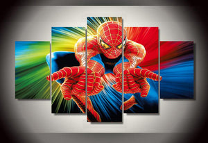Multi Panel Spiderman Split Grouped Wall Canvas Art