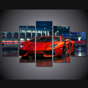 Multi Panel Red Sports Car Split Grouped Wall Canvas Art