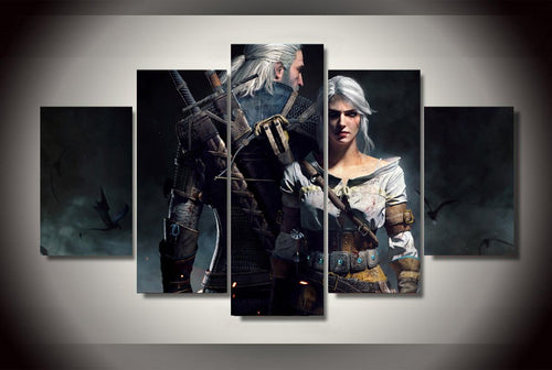 Multi Panel The Witcher 3 Geralt Split Grouped Wall Canvas Art