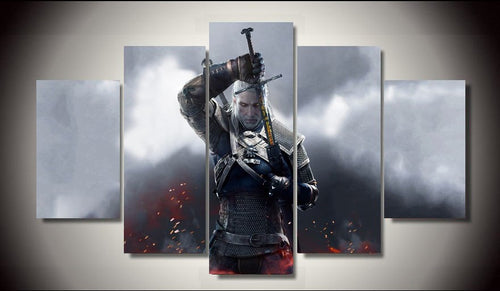 Multi Panel The Witcher 3 Split Grouped Wall Canvas Art