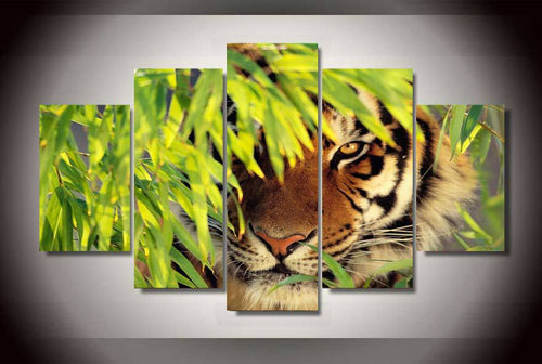Multi Panel Tiger Split Grouped Wall Canvas Art