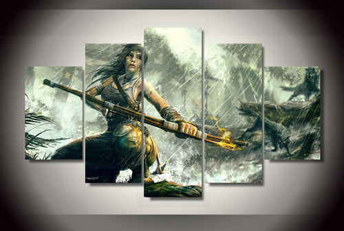 Multi Panel Tomb Raider Split Grouped Wall Canvas Art
