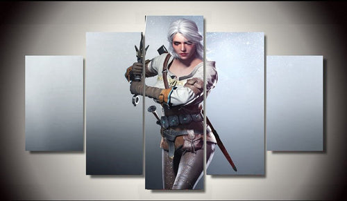 Multi Panel The Witcher Ciri Split Grouped Wall Canvas Art
