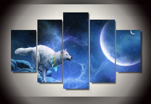 Multi Panel Spiritual Animal Split Grouped Wall Canvas Art
