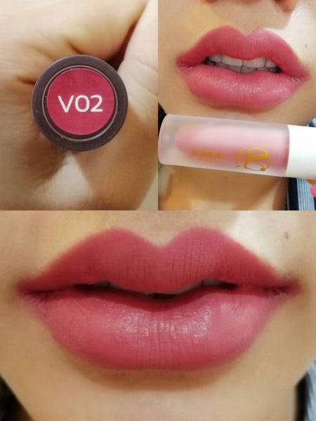 VEGA ลิปสติก Liquid Lipstick Lip Matte 3 in 1 Velvet Long Lasting (Cosmetic) 2.5g