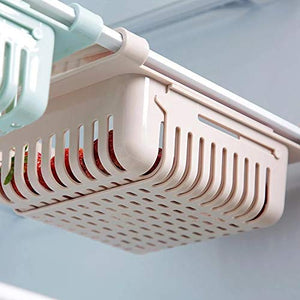 Mechdel Fridge Organizer Drawer - 4pcs Adjustable Fridge Storage Basket
