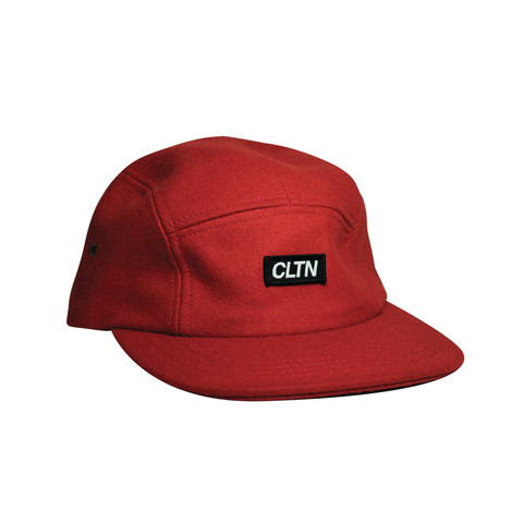 Melton Wool 5 Panel - Heritage Red