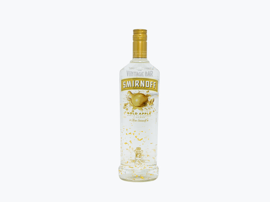Smirnoff Gold Apple (w/ Gold Flakes) 1000ml