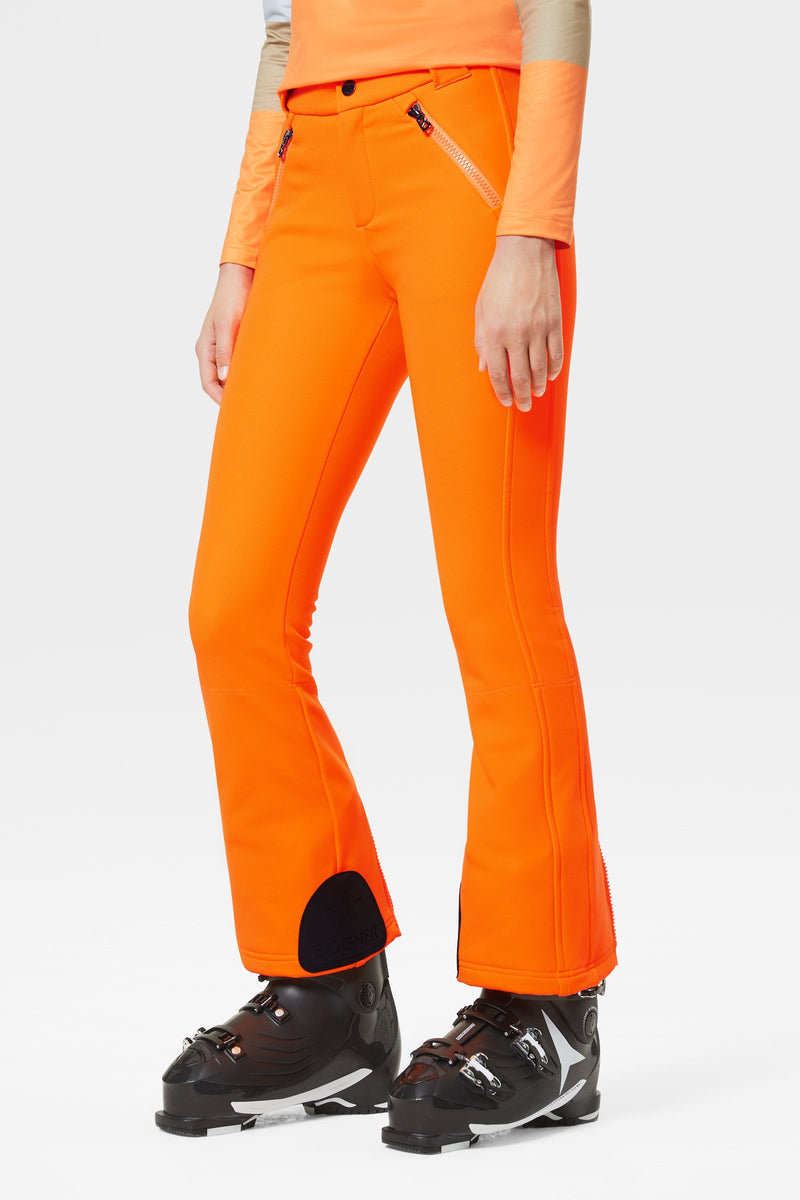 Haze Ski Pants - Bogner - Orange - dressed front view