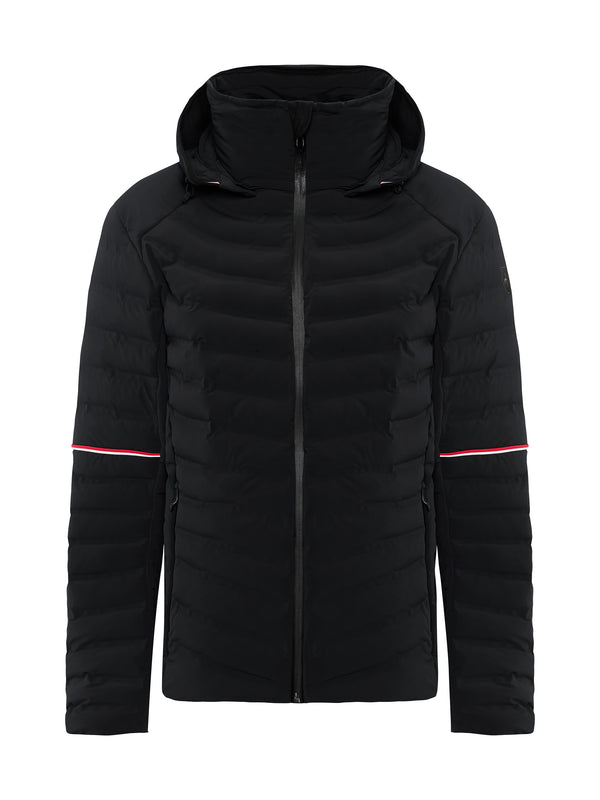 Ruven Men's Ski Jacket - Toni Sailer - Black - front view