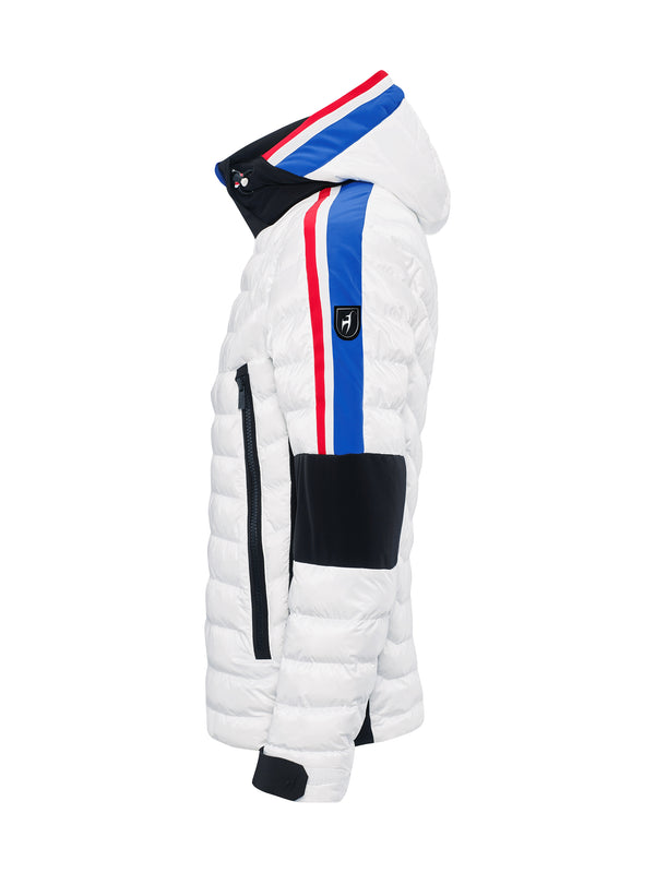 Glyn Ski Jacket - Toni Sailer - Bright White - side view