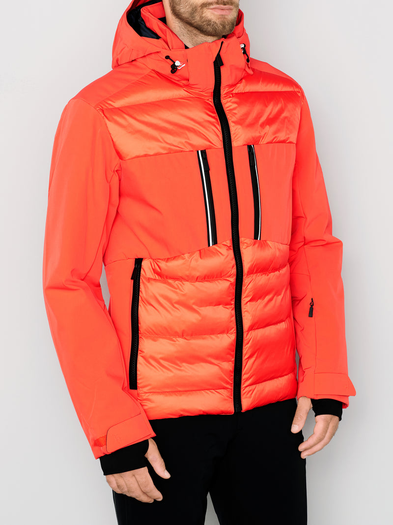 Colin Ski Jacket - Toni Sailer - Zesty Orange - dressed view