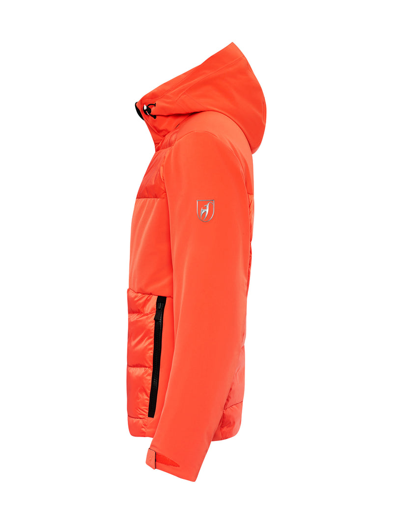 Colin Ski Jacket - Toni Sailer - Zesty Orange - side view
