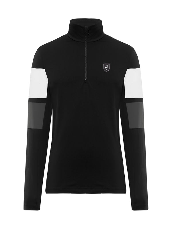 Samu Men's Base Layer - Toni Sailer - Black - front view