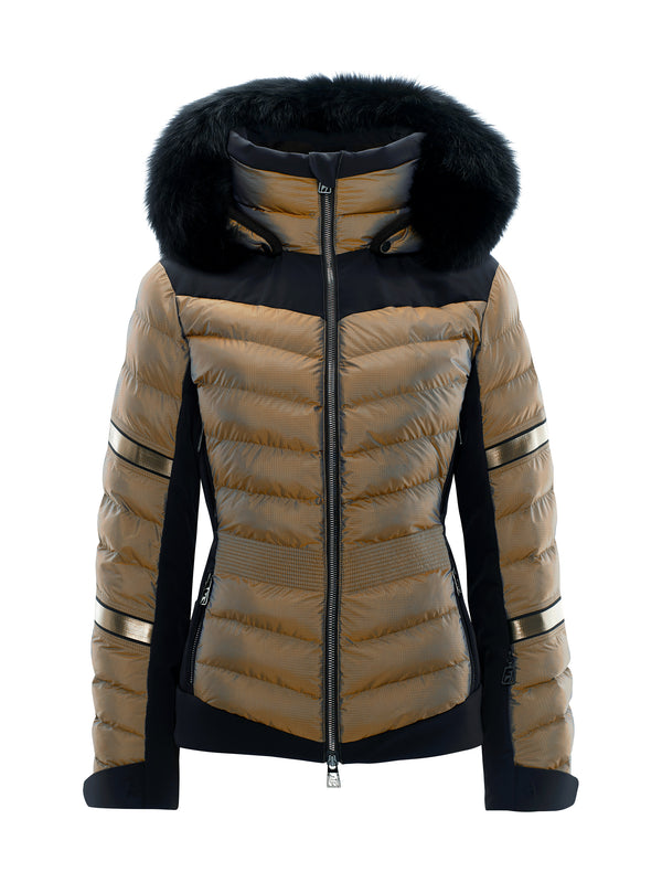 MADITA FUR - Ski Jacket - Toni Sailer - Golden Glacier - front view