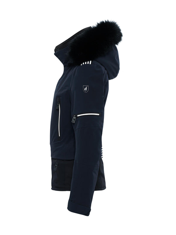 PENELOPE FUR SKI JACKET - Toni Sailer - Midnight - side view