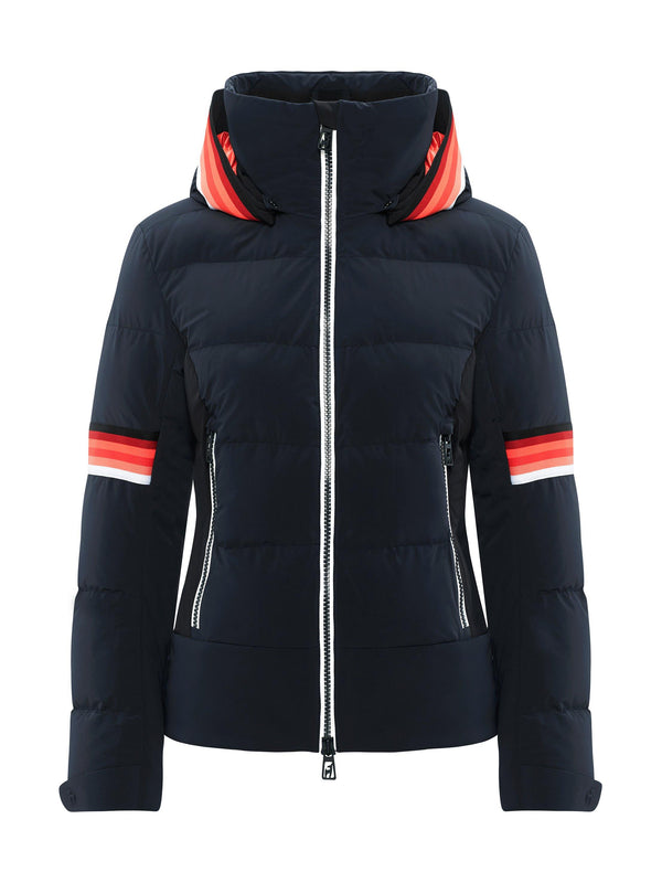 MURA Womens Ski Jacket - Toni Sailer - Midnight - front view