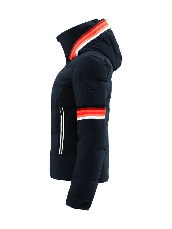 MURA Womens Ski Jacket - Toni Sailer - Midnight - side view