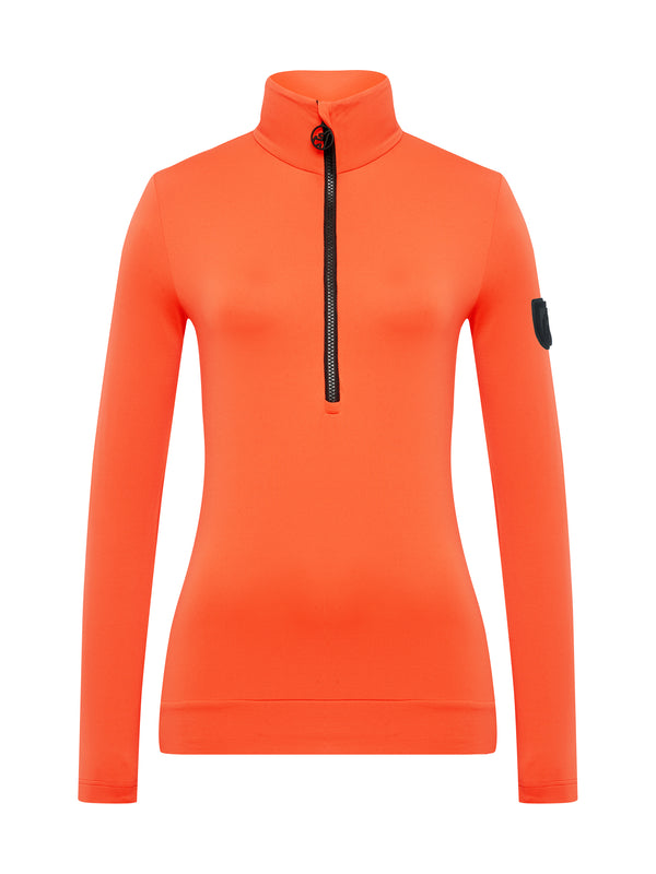 Wieka Women's First Layer - Toni Sailer - Zesty Orange - front view
