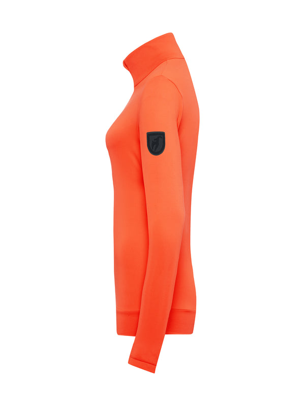Wieka Women's First Layer - Toni Sailer - Zesty Orange - side view