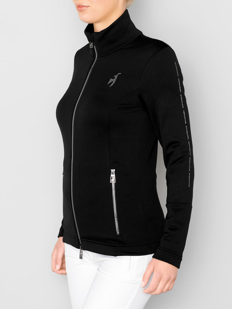 Rosa Spacial Women's Mid Layer - Toni Sailer - Black - dressed side view