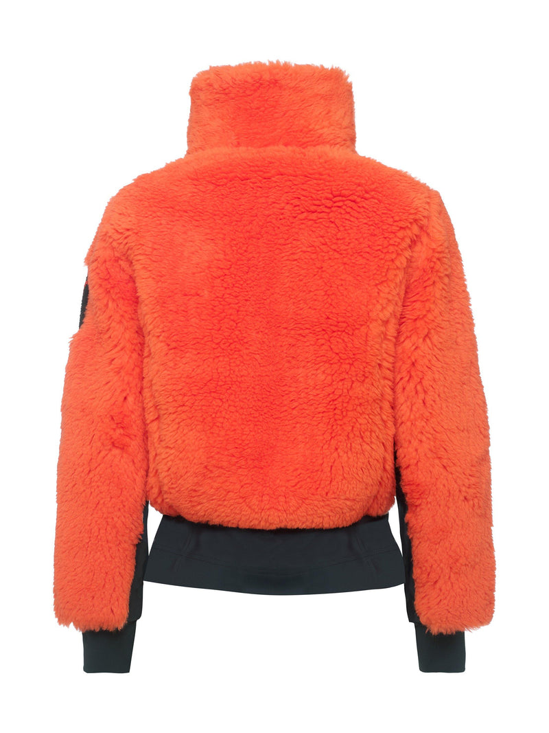 Rika Women's Casual Jacket - Toni Sailer - Fire Orange - back view
