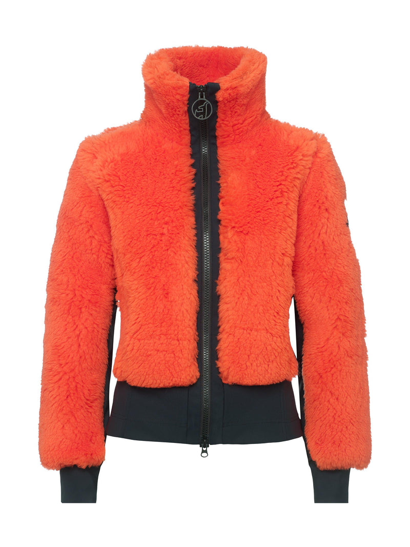 Rika Women's Casual Jacket - Toni Sailer - Fire Orange - front view
