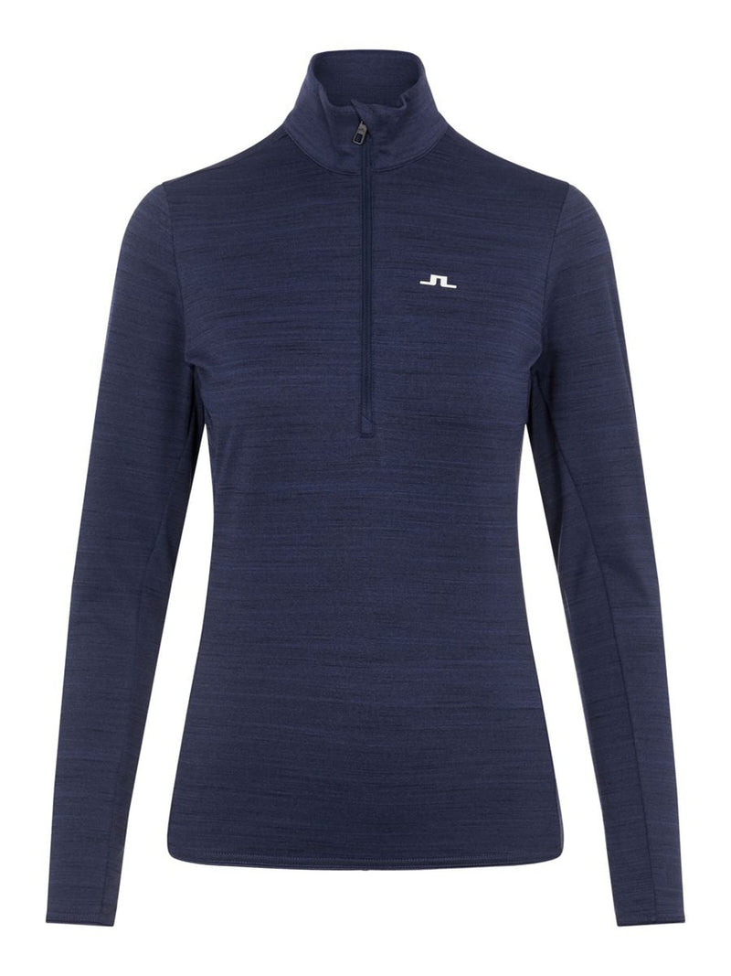 Lauryn - Women Mid Layer  - J. Lindeberg - Navy Melange - front view
