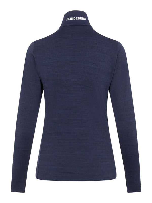Lauryn - Women Mid Layer  - J. Lindeberg - Navy Melange - back view