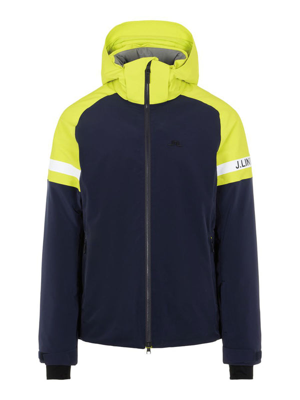 Dan Ski Jacket - J. Lindeberg - Leaf Yellow - front view