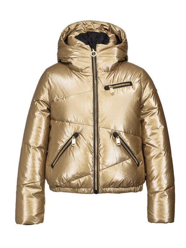 Balloon Ski Jacket - Goldbergh - Gold - front view