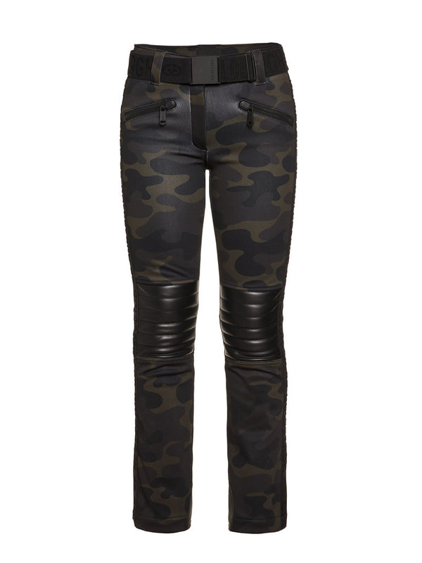 Battle - Woman Ski Pants - Camouflage print - Goldbergh - front view