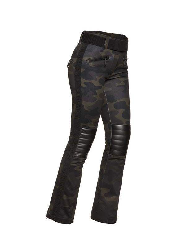 Battle - Woman Ski Pants - Camouflage print | Goldbergh - side view