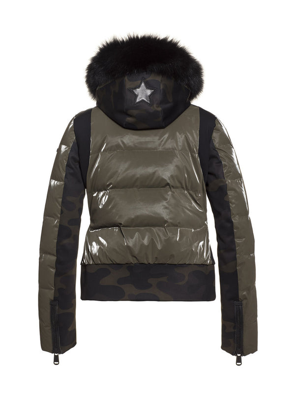 Camaleon Sporty Ski jacket - camouflage print - Goldberg - back view
