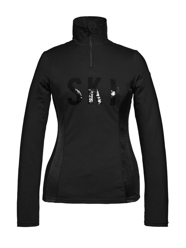 Hila Sporty ski pullover - Goldbergh - Black - front view