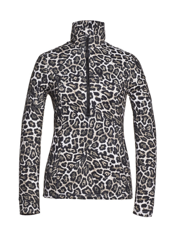 Lilja - Ski pullover with leopard print - Goldbergh - front view