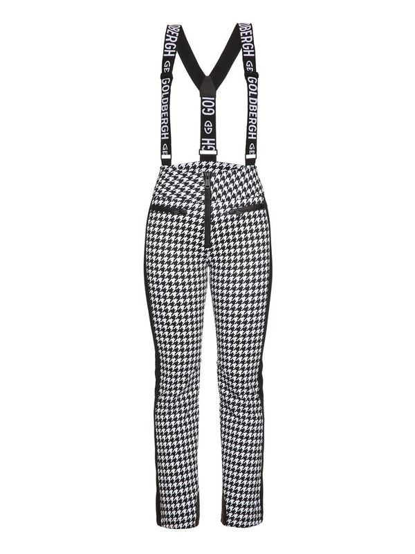Lily - Classic salopette with houndstooth print - Goldberg - front view