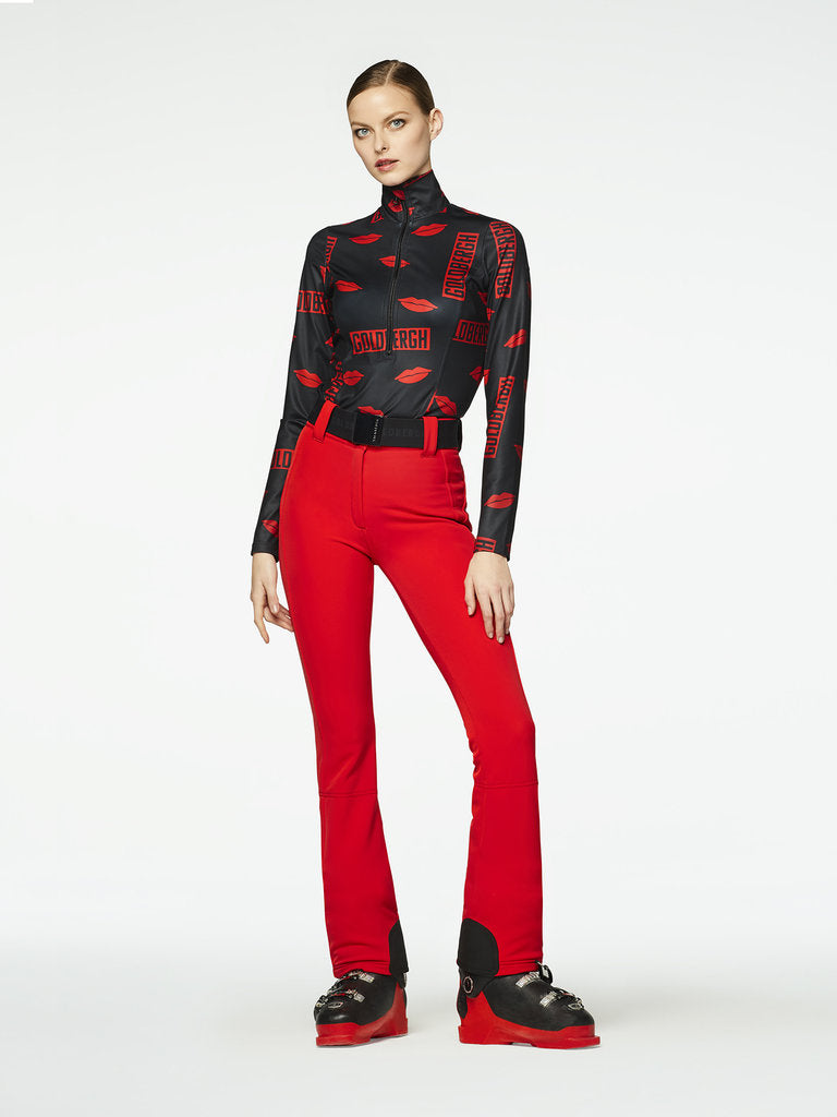 Pippa Ski Pants - Goldbergh - Ruby Red - dressed front view