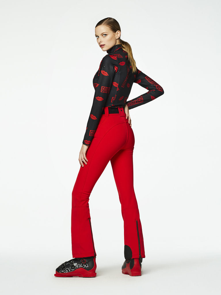Pippa Ski Pants - Goldbergh - Ruby Red - dressed side view