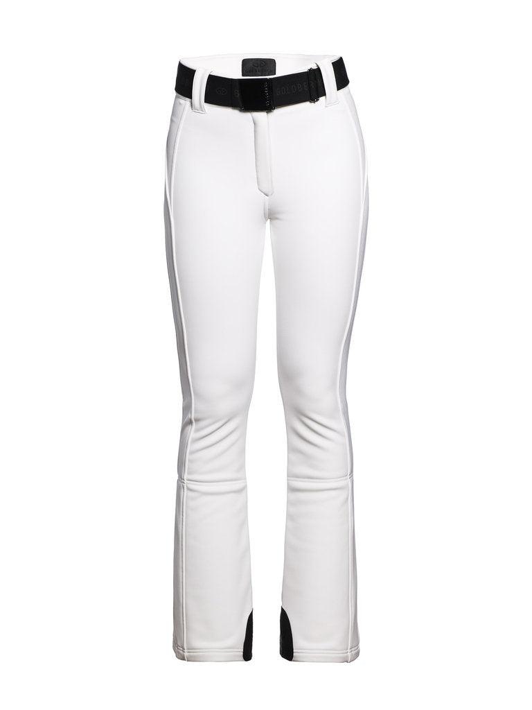 Pippa Ski Pants - Goldbergh - White - front view