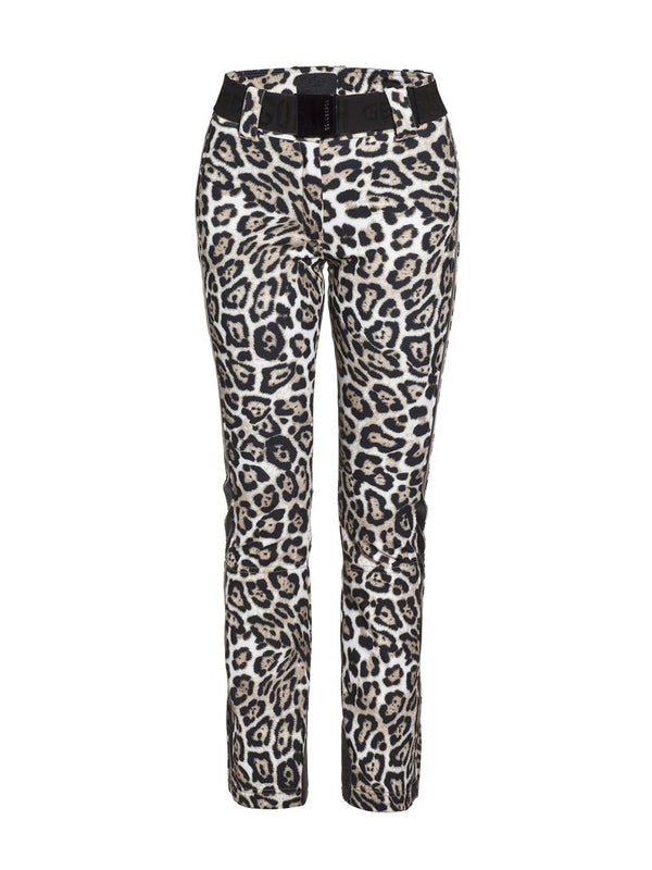 Roar Striking ski pants with leopard print - Goldbergh - front view