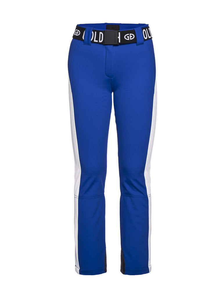 Runner Retro Style Ski Pants-  Goldbergh - Electric Blue - front view