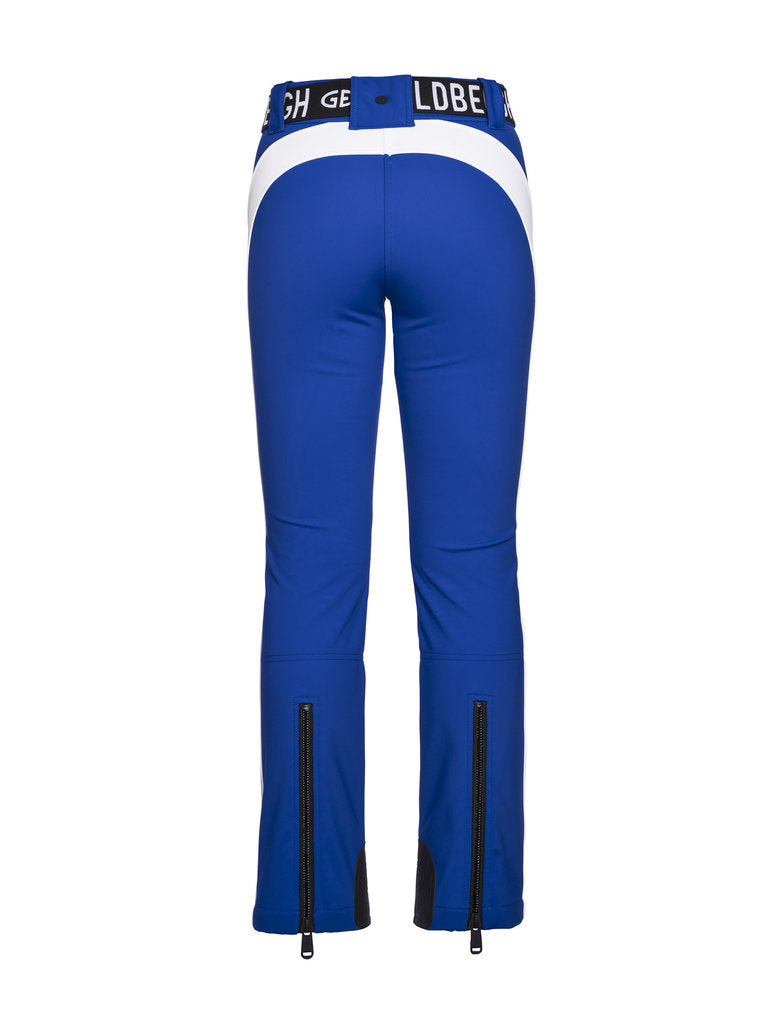 Runner Retro Style Ski Pants-  Goldbergh - Electric Blue - back view