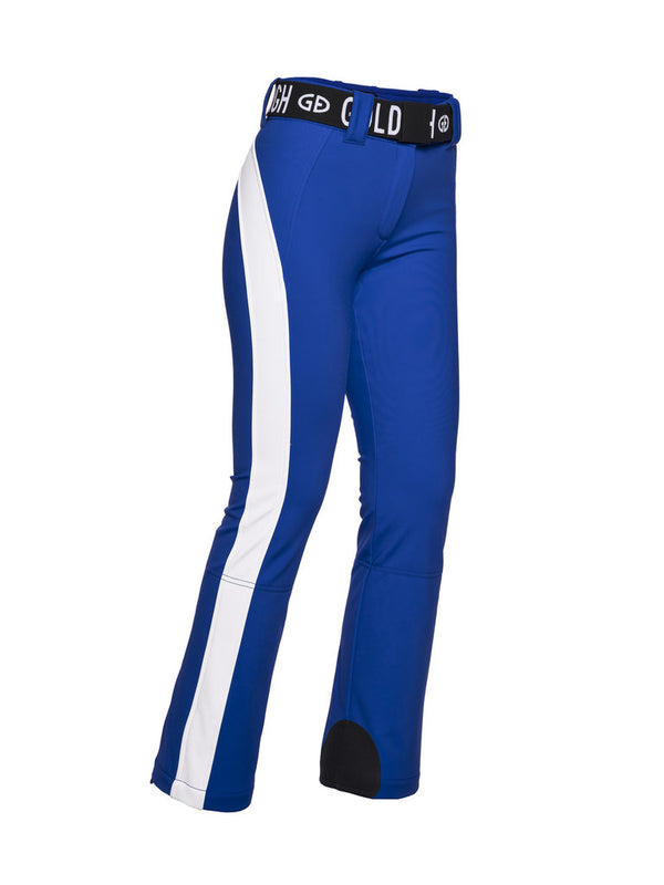 Runner Retro Style Ski Pants-  Goldbergh - Electric Blue - side view