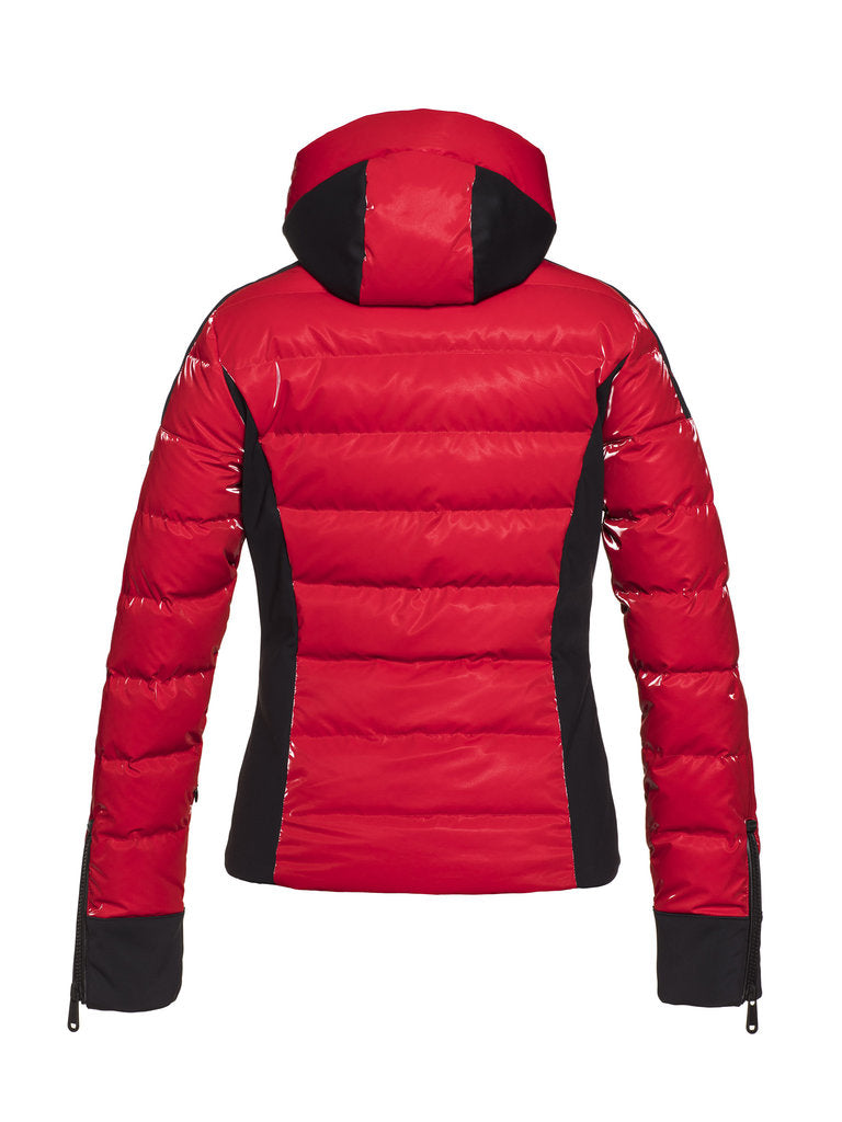 Strong Sporty Down Jacket - Goldbergh - Ruby Red - back view