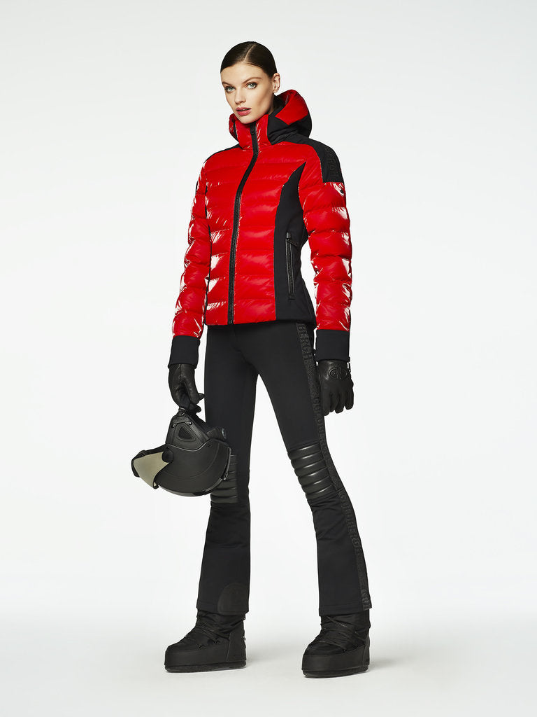 Strong Sporty Down Jacket - Goldbergh - Ruby Red - dressed front view
