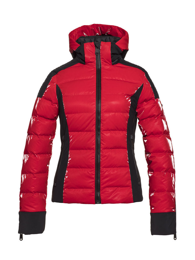 Strong Sporty Down Jacket - Goldbergh - Ruby Red - front view