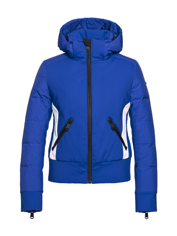 Tess Women's Retro style ski jacket - Goldbergh - Electric Blue - front view