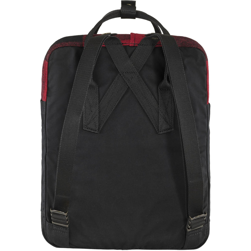 Kånken Re-Wool Backpack - Fjäll Räven - Red Black