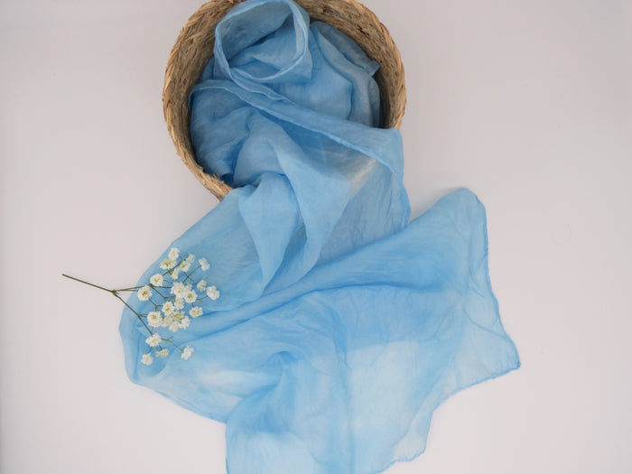 silk scarves, natural dyed scarves
